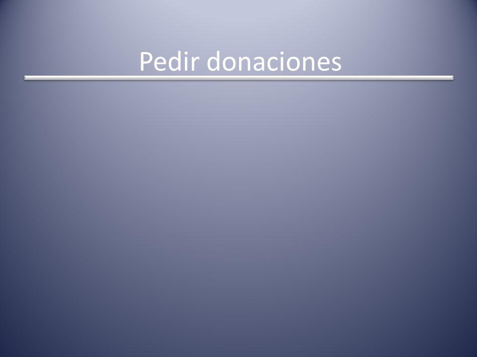 Pedir donaciones