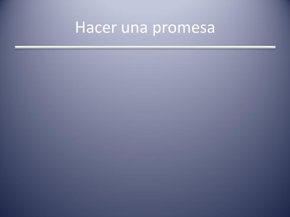 Hacer una promesa