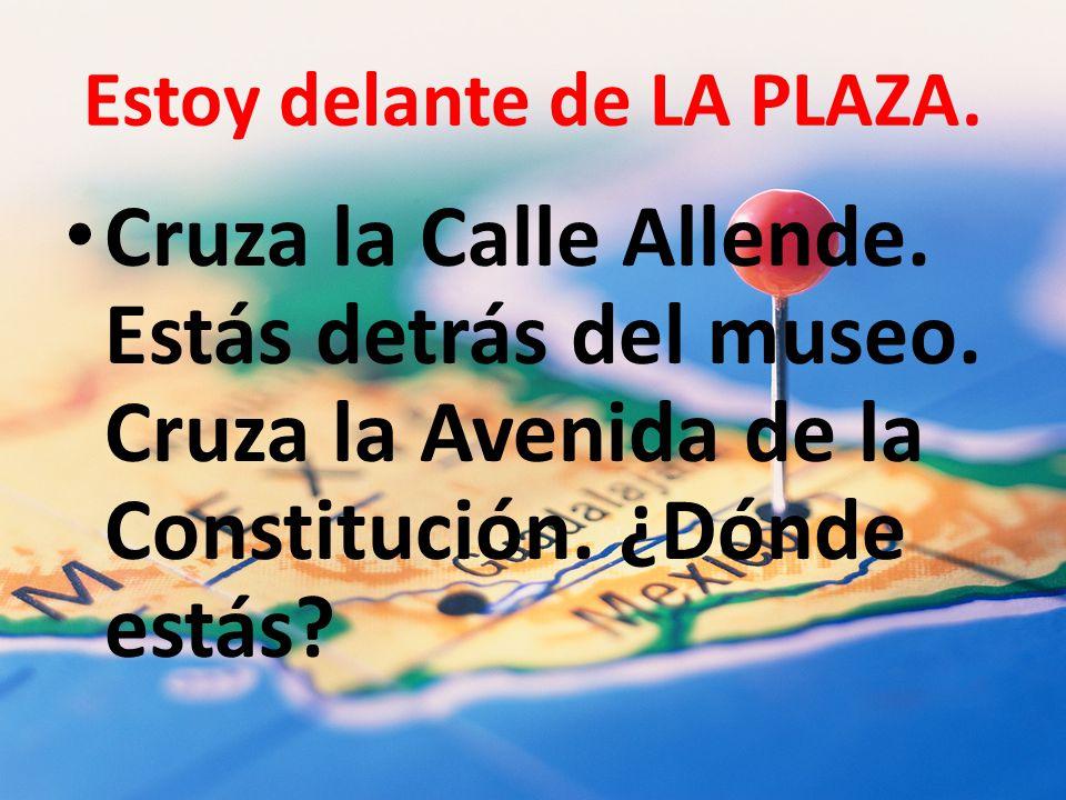 Estoy delante de LA PLAZA.Cruza la Calle Allende.