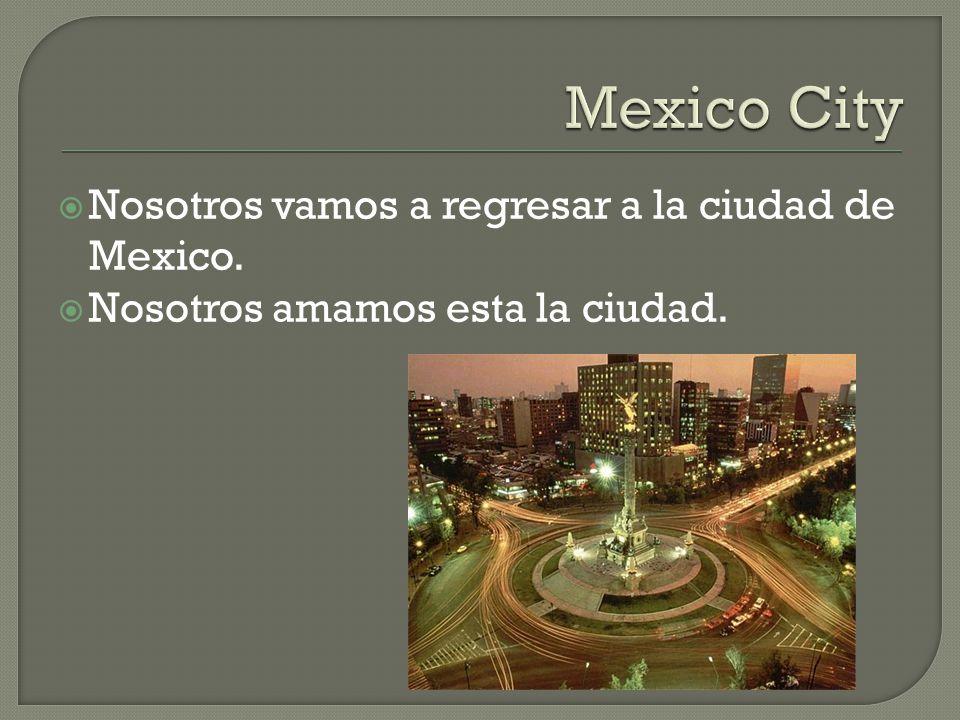 Nosotros vamos a regresar a la ciudad de Mexico. Nosotros amamos esta la ciudad.