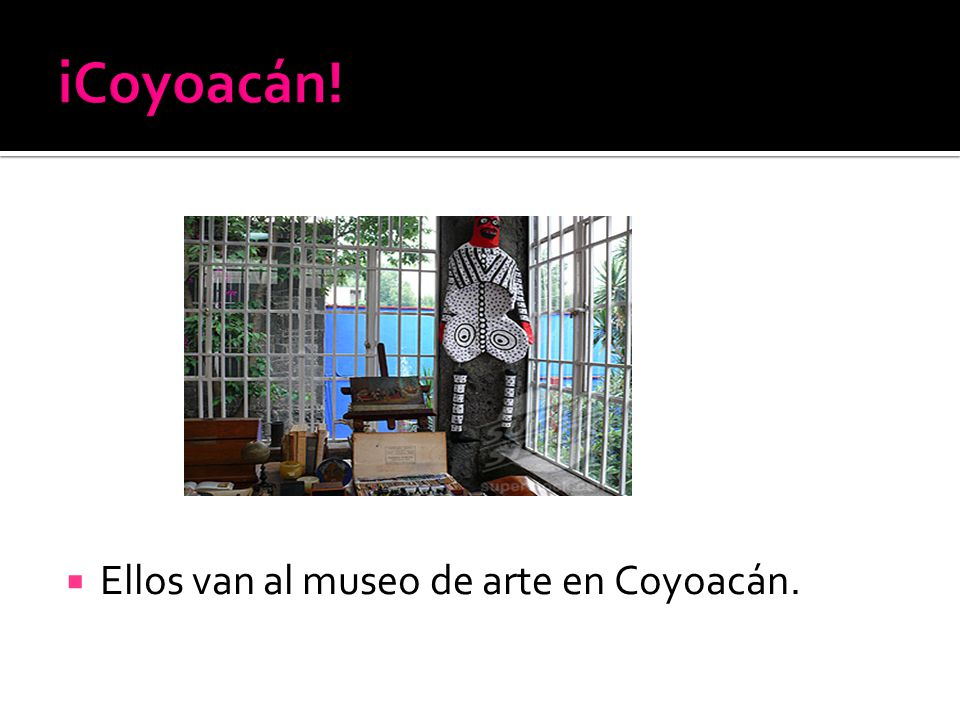 Ellos van al museo de arte en Coyoacán.