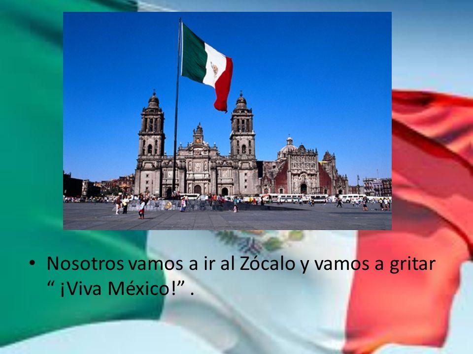 Nosotros vamos a ir al Zócalo y vamos a gritar ¡Viva México!.