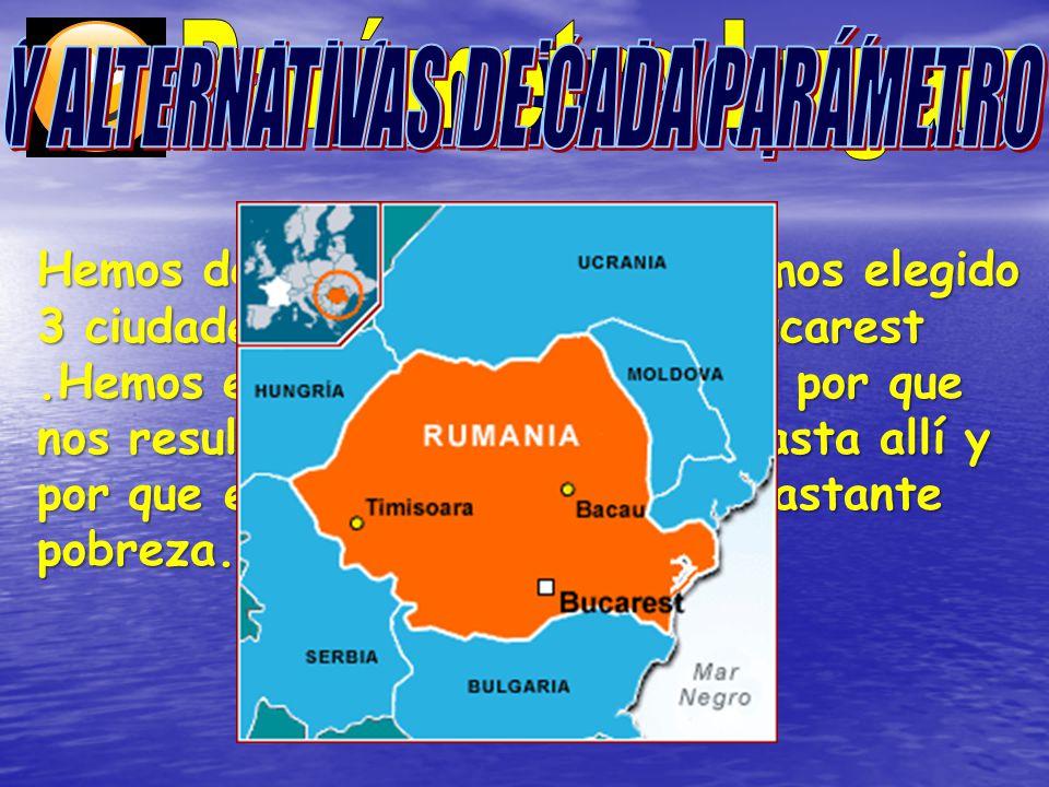 Hemos decidido ir a Rumanía hemos elegido 3 ciudades: Arad, Mangalia y Bucarest.Hemos elegido estas 3 ciudades por que nos resultaría más facil llegar