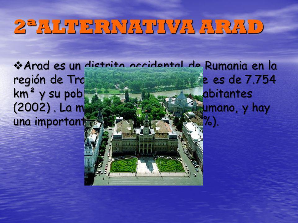Arad es un distrito occidental de Rumania en la región de Transilvania. Su superficie es de 7.754 km² y su población es de 478.108 habitantes (2002).