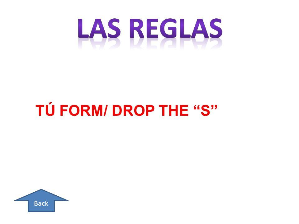 Back TÚ FORM/ DROP THE S