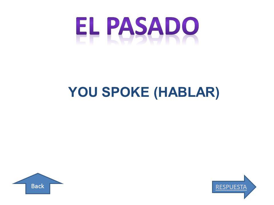 Back YOU SPOKE (HABLAR) RESPUESTA