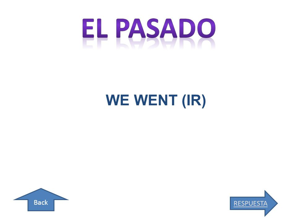 Back WE WENT (IR) RESPUESTA
