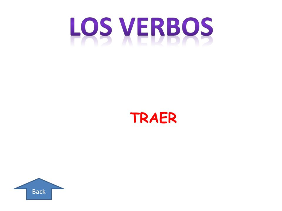 Back THE SUBJECT AND VERB NEED TO BE INVERTED/THE SUBJECT MAY BE PLACED DIRECTLY AFTER THE VERB OR AT THE END OF THE SENTENCE.