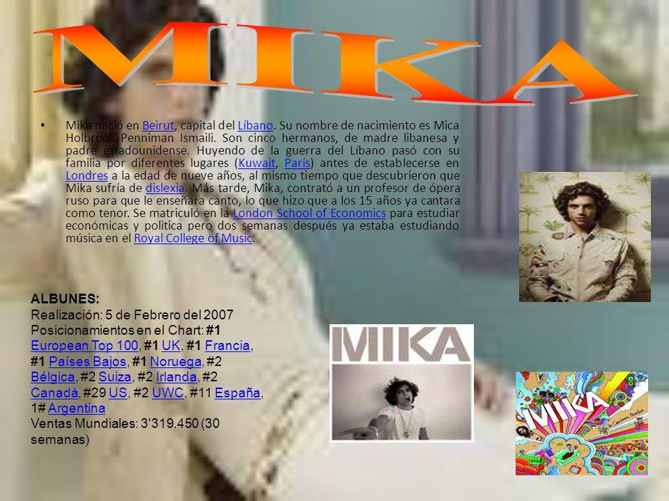 Mika nació en Beirut, capital del Líbano.