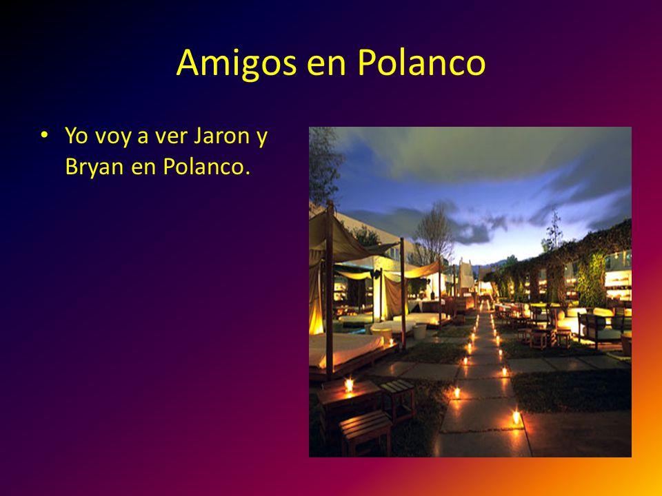 Amigos en Polanco Yo voy a ver Jaron y Bryan en Polanco.