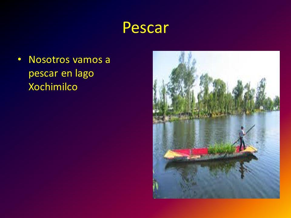 Pescar Nosotros vamos a pescar en lago Xochimilco