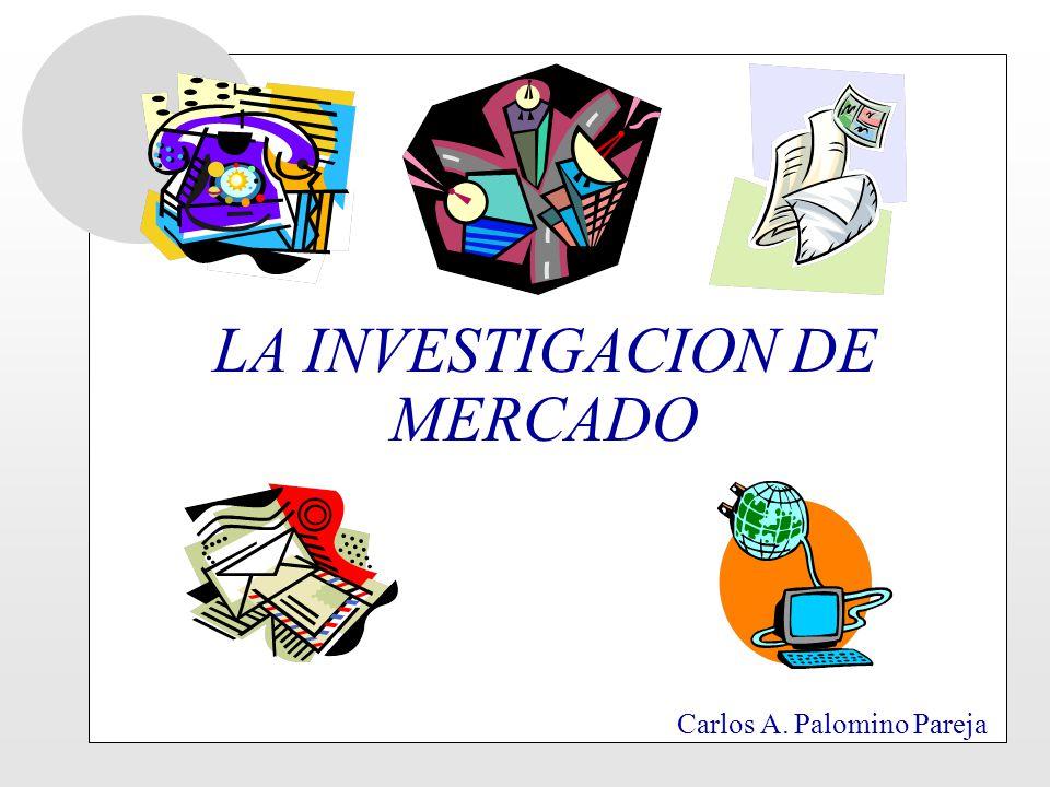 LA INVESTIGACION DE MERCADO Carlos A. Palomino Pareja