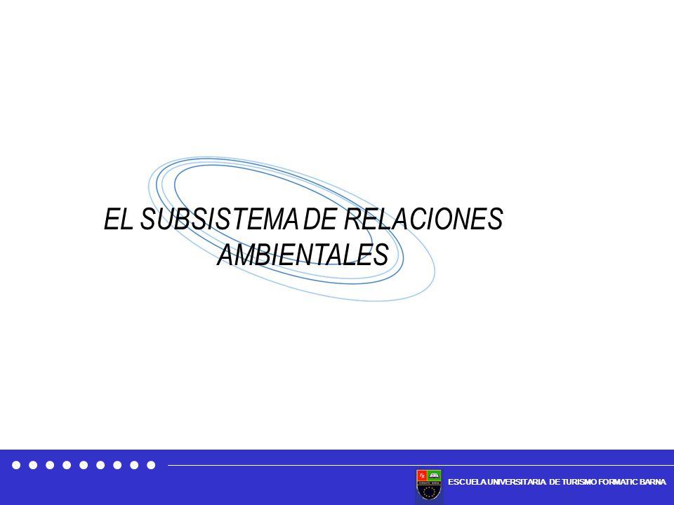 ESCUELA UNIVERSITARIA DE TURISMO FORMATIC BARNA EL SUBSISTEMA DE RELACIONES AMBIENTALES