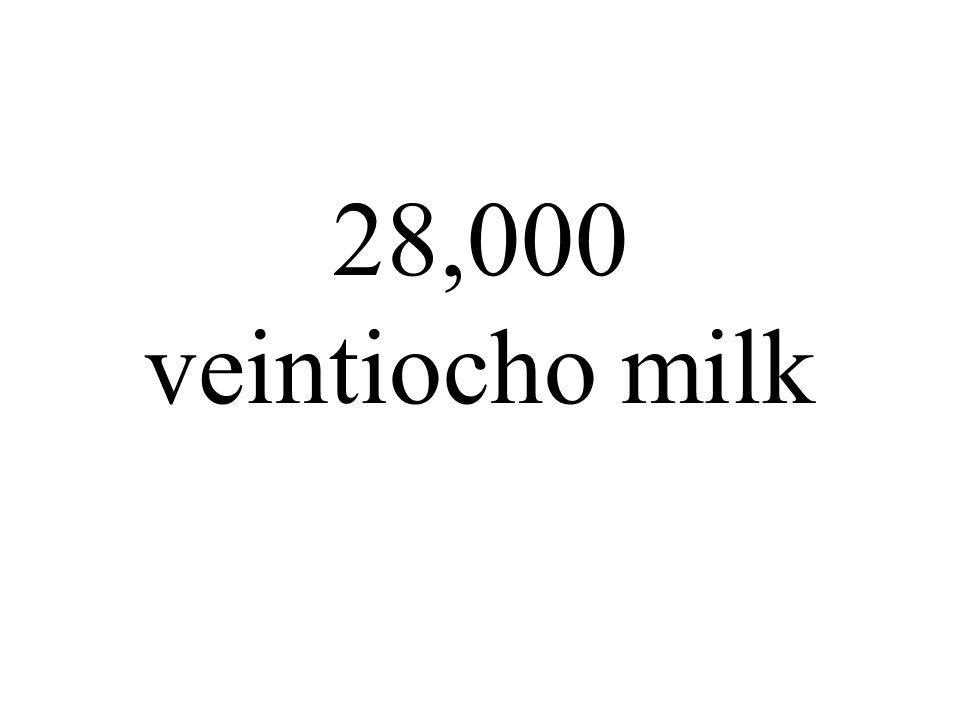 28,000 veintiocho milk