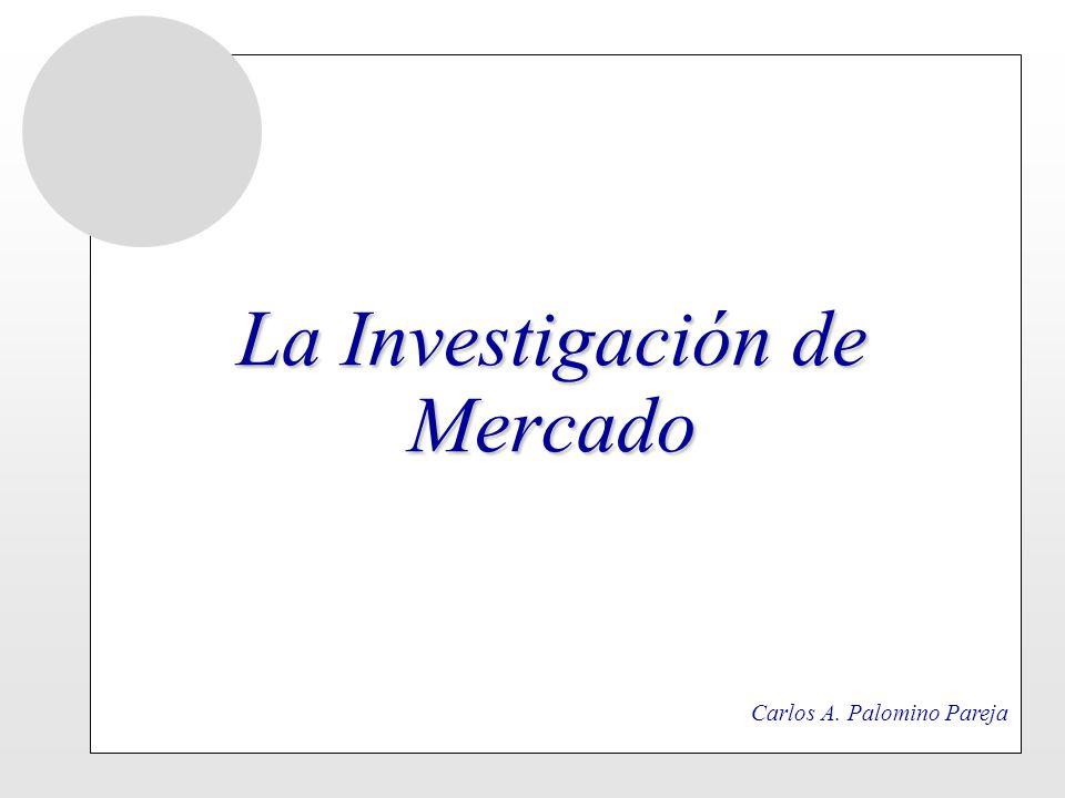 CONCEPTO DE INVESTIGACION DE MERCADO Es un recurso, un instrumento al servicio del marketing Constituye un aporte especifico en el proceso de planeamiento y toma de decisiones En el campo comercial es una inversión EMPRESA Genera Utilidades Reduce Riesgos
