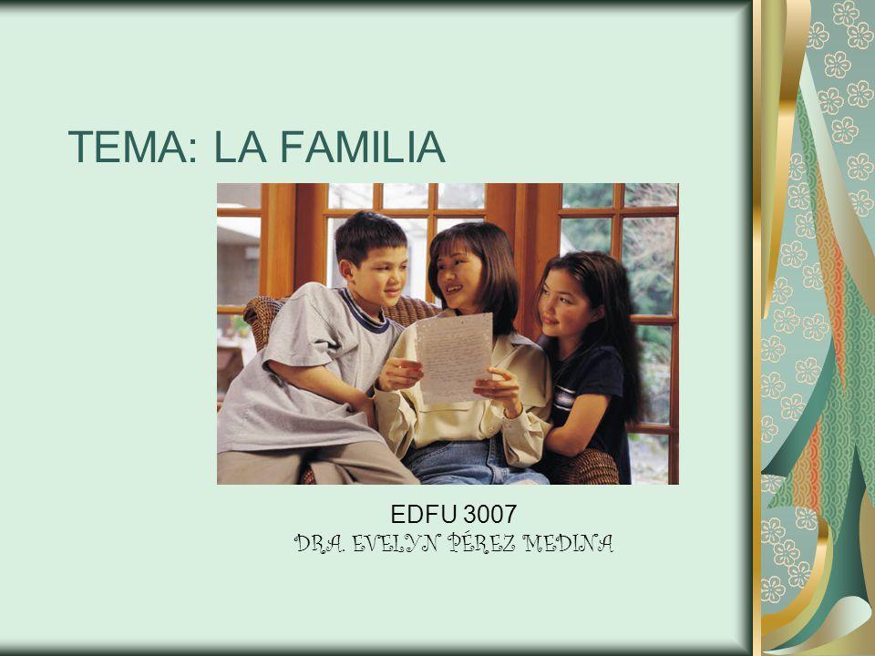 TEMA: LA FAMILIA EDFU 3007 DRA. EVELYN PÉREZ MEDINA
