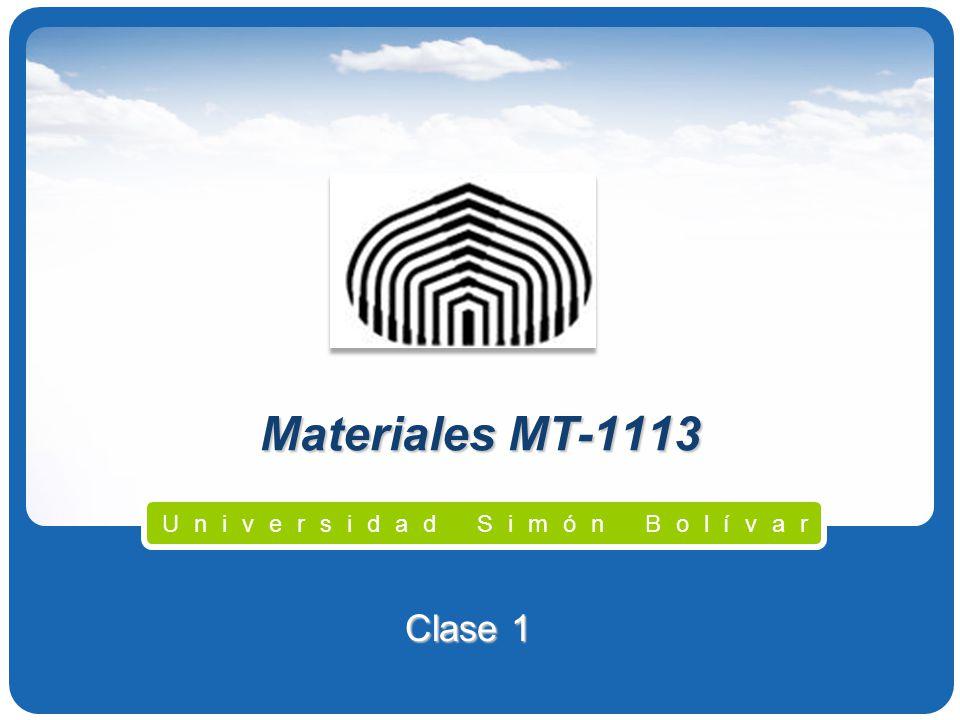 Materiales MT-1113 Universidad Simón Bolívar Clase 1