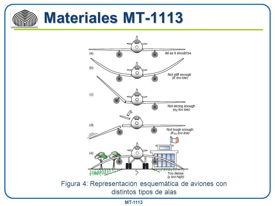 MT-1113 Materiales MT-1113 Figura 4: Representación esquemática de aviones con distintos tipos de alas
