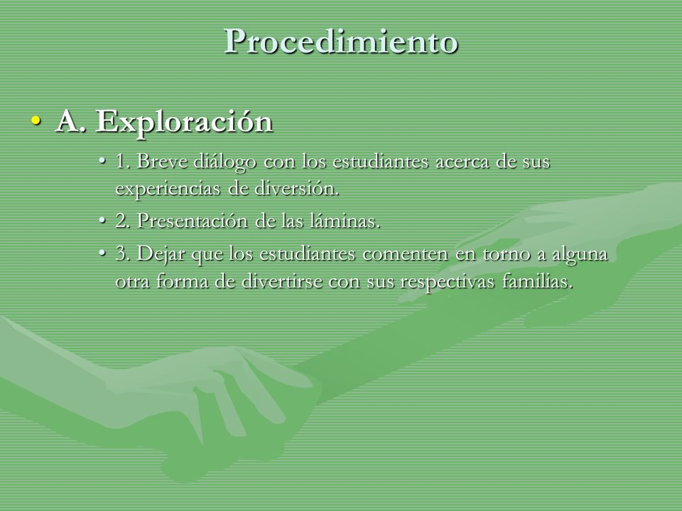 Procedimiento B.ConceptualizaciónB. Conceptualización 1.