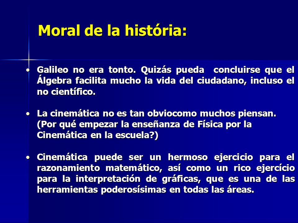 Moral de la história: Galileo no era tonto.