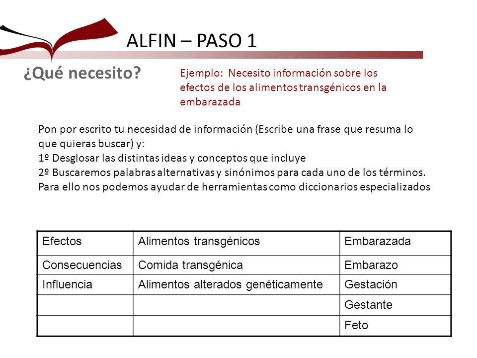ALFIN – PASO 1 EfectosAlimentos transgénicosEmbarazada ConsecuenciasComida transgénicaEmbarazo InfluenciaAlimentos alterados genéticamenteGestación Ge