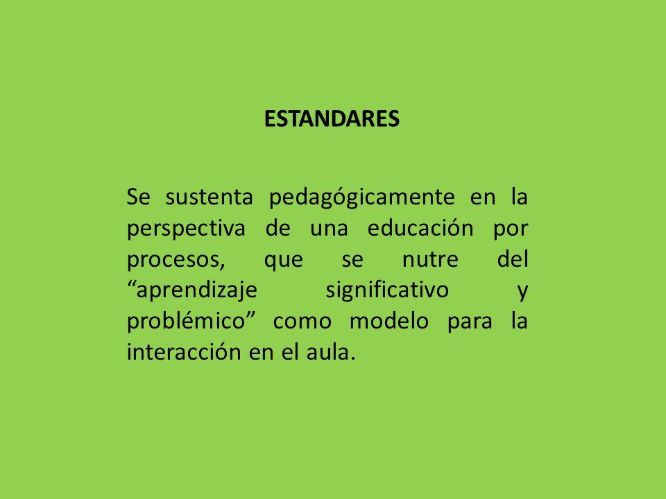 Se sustenta pedagógicamente en la perspectiva de una educación por procesos, que se nutre del aprendizaje significativo y problémico como modelo para