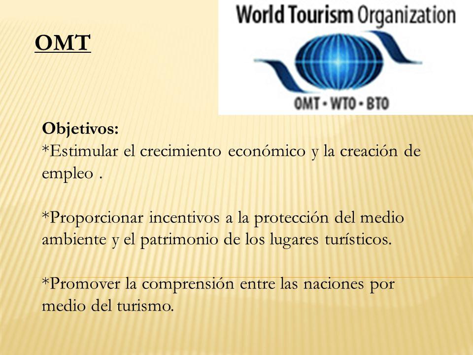 Objetivos: *Estimular el crecimiento económico y la creación de empleo. *Proporcionar incentivos a la protección del medio ambiente y el patrimonio de