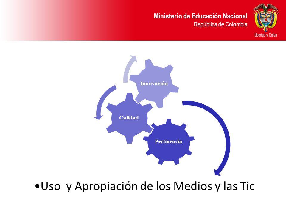 Ministerio de Educación Nacional República de Colombia Pertinencia Calidad Innovación Uso y Apropiación de los Medios y las Tic