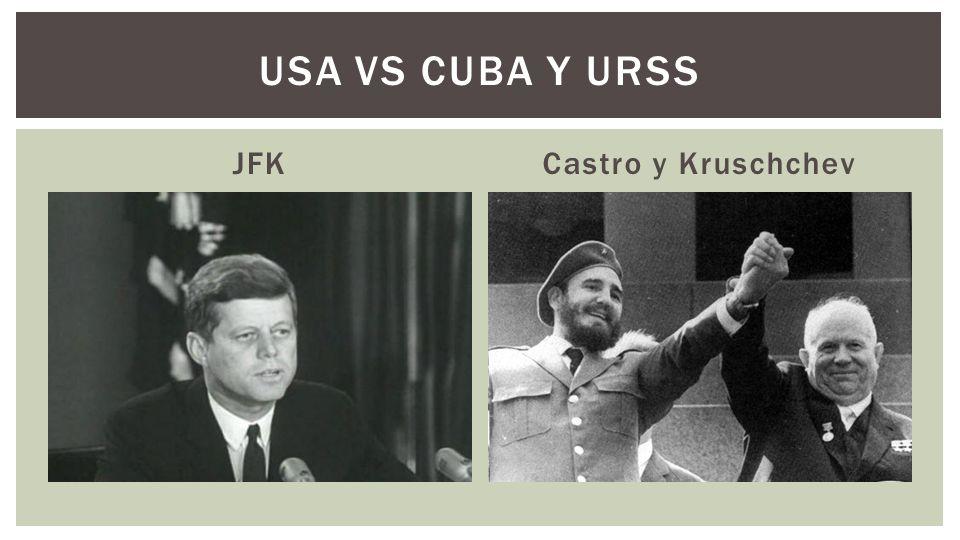 Kruschev explicó que los emplazamientos de misiles eran solamente para defender a Cuba contra el ataque de un agresor 20 barcos rusos se dirigían a Cuba.
