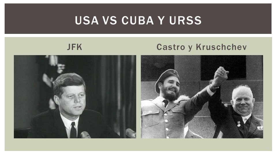JFKCastro y Kruschchev USA VS CUBA Y URSS