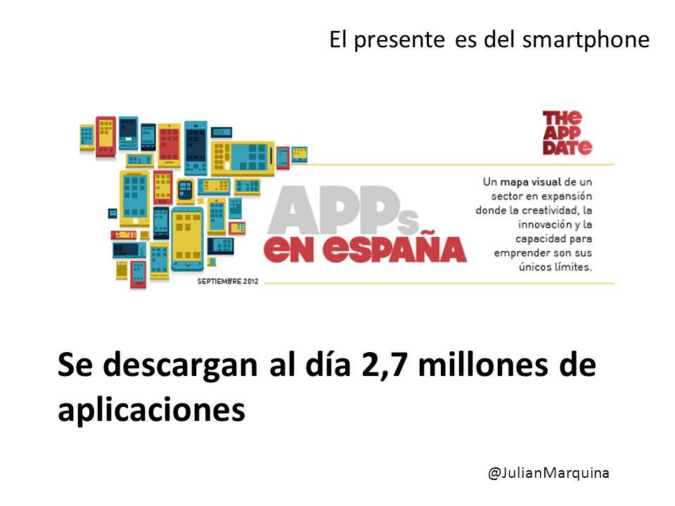 Se descargan al día 2,7 millones de aplicaciones El presente es del smartphone @JulianMarquina