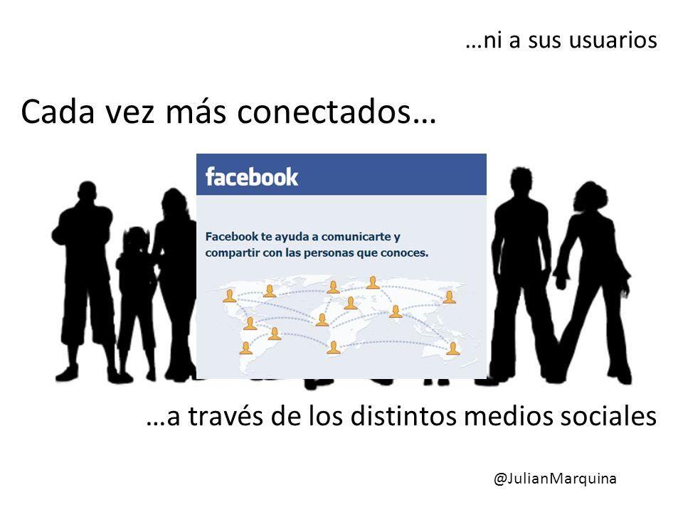 Cada vez más conectados… …ni a sus usuarios …a través de los distintos medios sociales @JulianMarquina