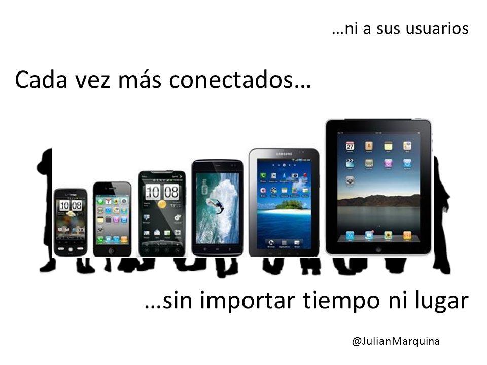 Cada vez más conectados… …ni a sus usuarios …sin importar tiempo ni lugar @JulianMarquina