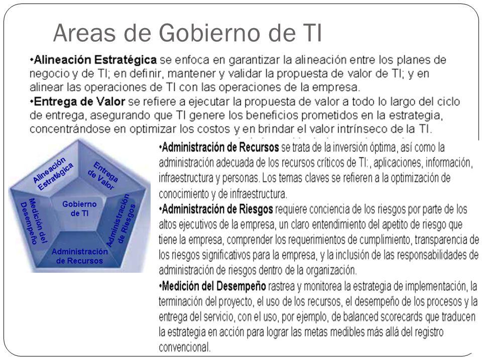 Areas de Gobierno de TI