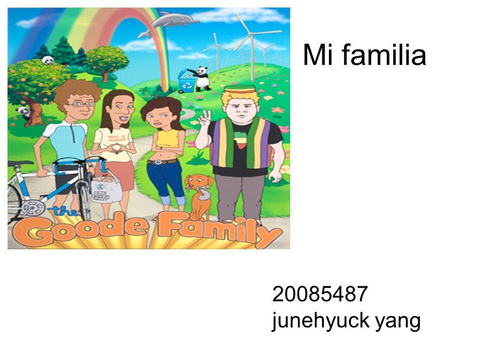 yo Me llamo junhyuck yang Tengo 28 años Soy un poco alto y tengo vigote Me gusta ver la futbol Me gusta comer jap-che Soy cariñoso y extrovertida Soy estudiante de Chosun Universidad