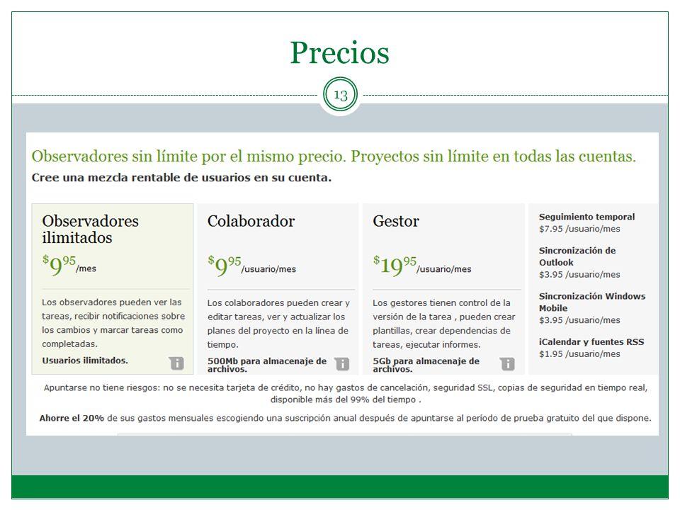 Precios 13