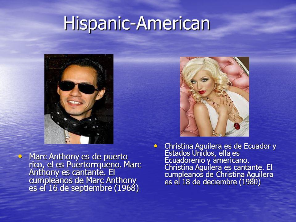 Hispanic- American Hispanic- American Shakira es de colombia, ella es Colombiano.