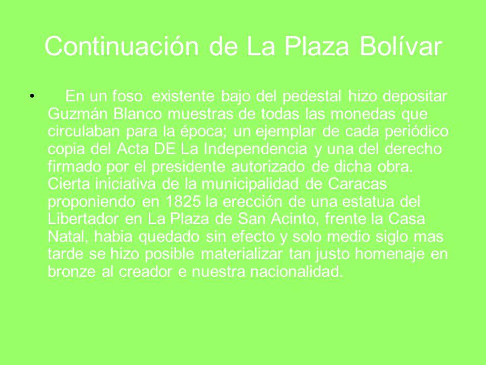 Imágenes de La Plaza Bolívar Antiguamente Actualmente