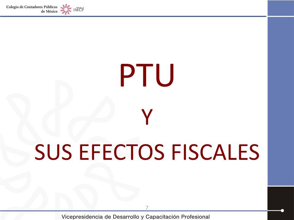 8 Utilidad fiscal y PTU Cuestionamientos ¿La utilidad fiscal incluye la PTU pagada.