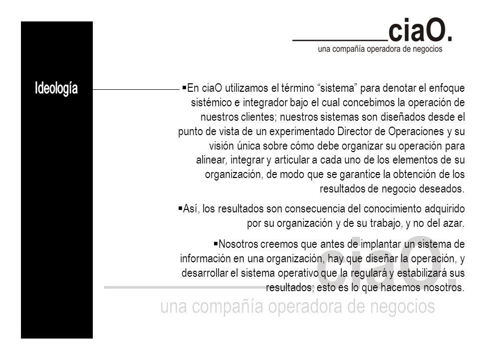 Institucionalizamos la operación.Creamos y afianzamos la cultura y claridad organizacionales.