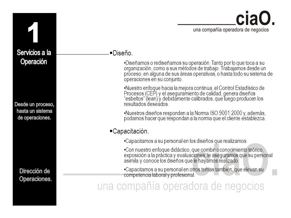 Nombre comercial de la empresa: ciaO (compañía operadora).