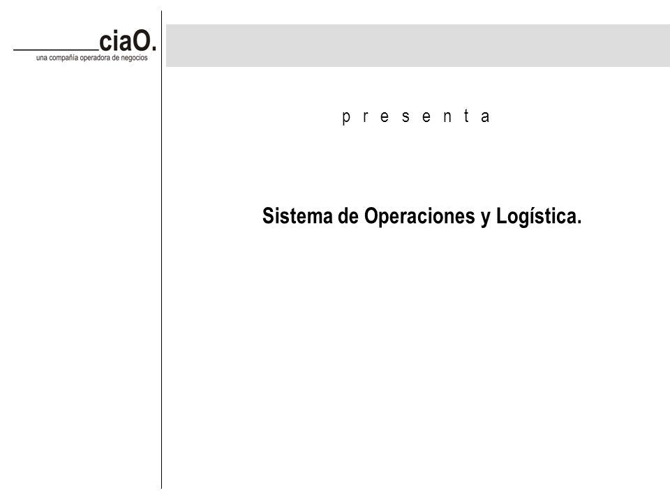 p r e s e n t a Sistema de Operaciones y Logística.