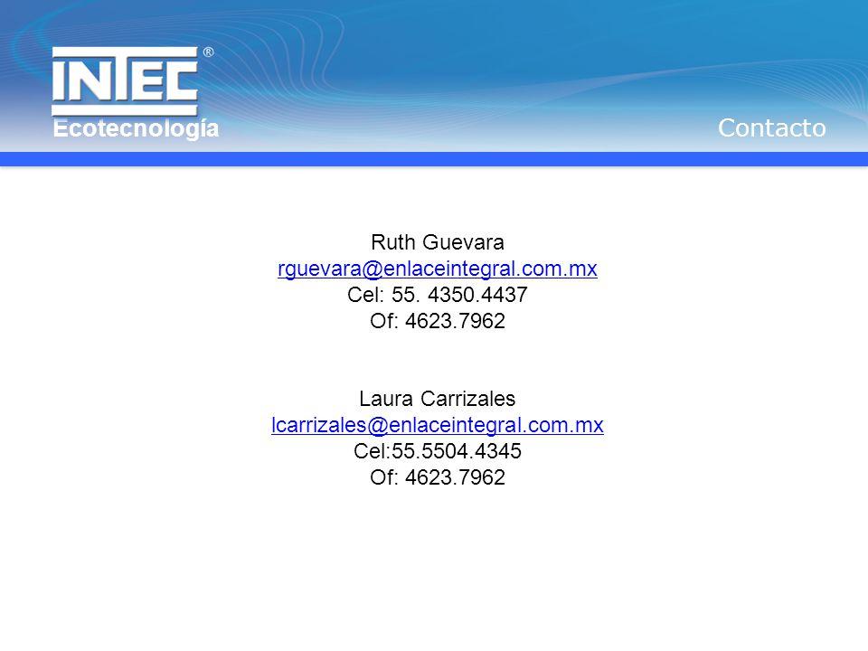 Contacto Ruth Guevara rguevara@enlaceintegral.com.mx Cel: 55.
