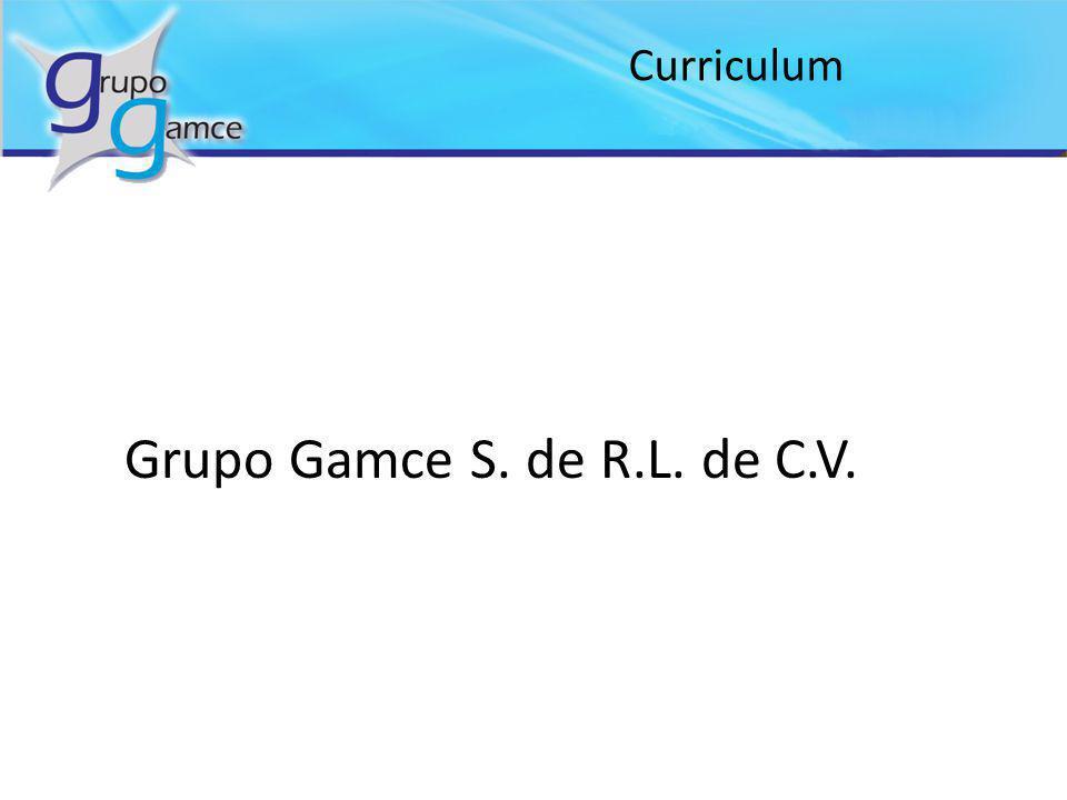 Grupo Gamce S. de R.L. de C.V. Curriculum