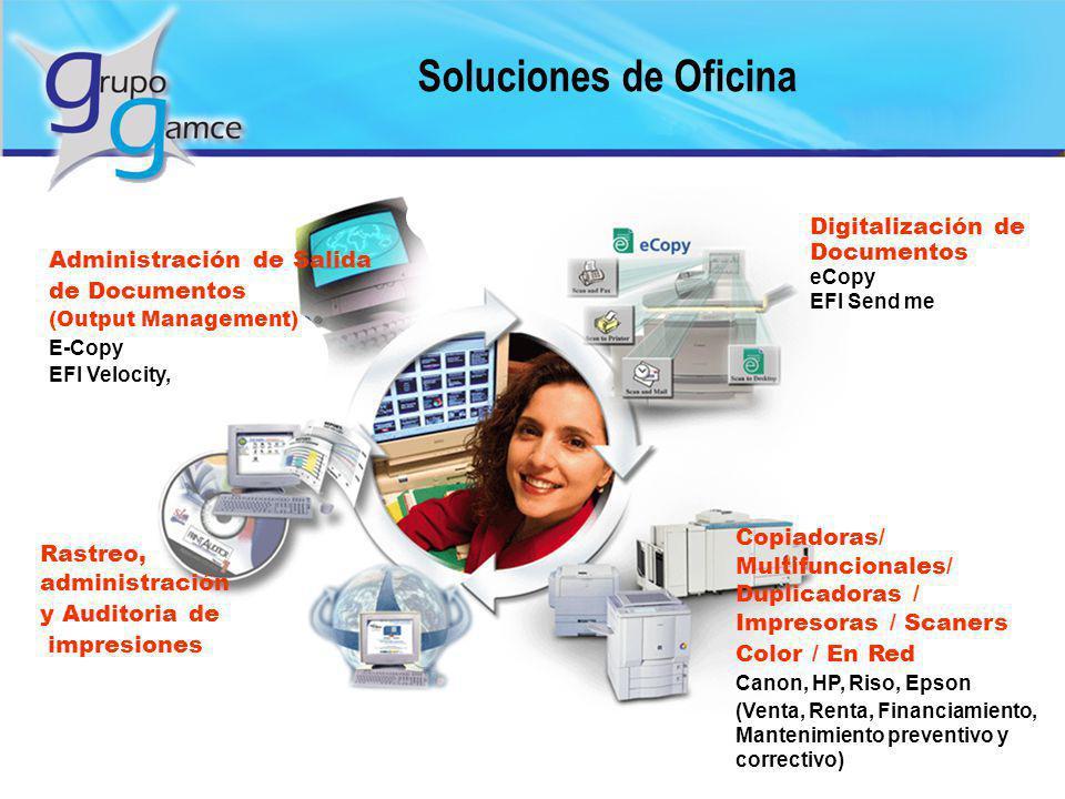 Soluciones de Oficina Administración de Salida de Documentos (Output Management) E-Copy EFI Velocity, Copiadoras/ Multifuncionales/ Duplicadoras / Imp