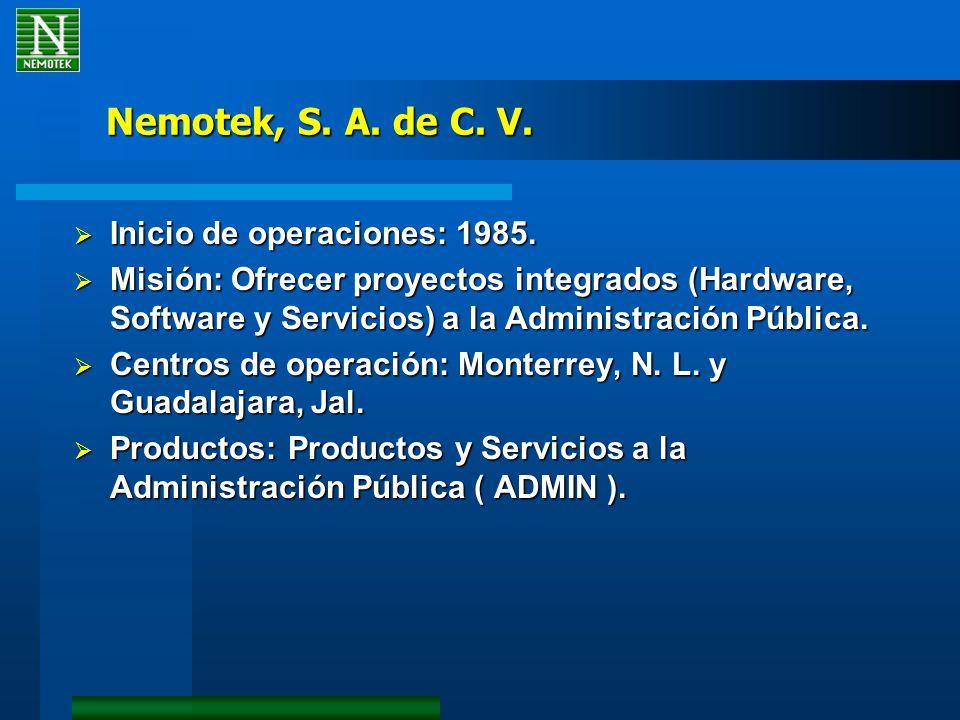 Nemotek, S. A. de C. V. Inicio de operaciones: 1985.