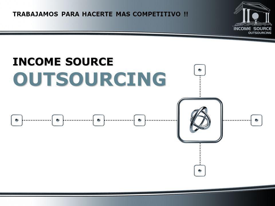 La Empresa Income Source Income Source Income Source es un grupo de profesionales especializados en la Administración de Recursos Humanos y Nómina con más de 25 años de experiencia en el ramo.