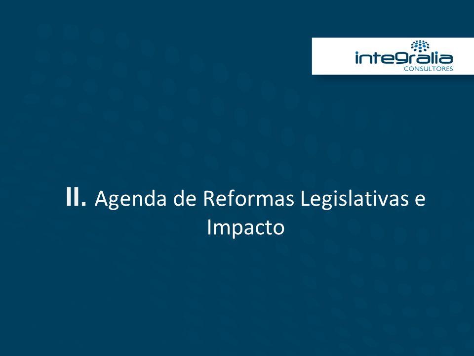 II. Agenda de Reformas Legislativas e Impacto