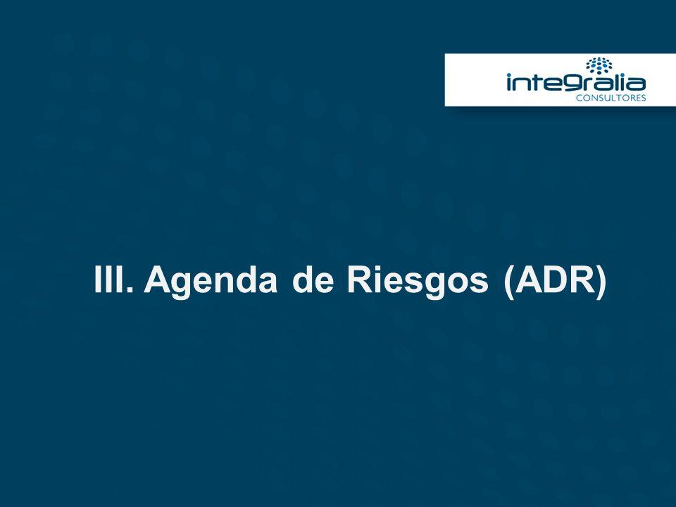 III. Agenda de Riesgos (ADR)