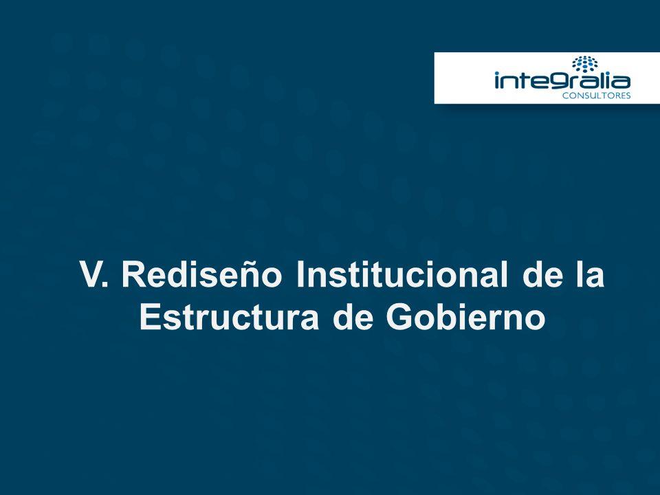 V. Rediseño Institucional de la Estructura de Gobierno
